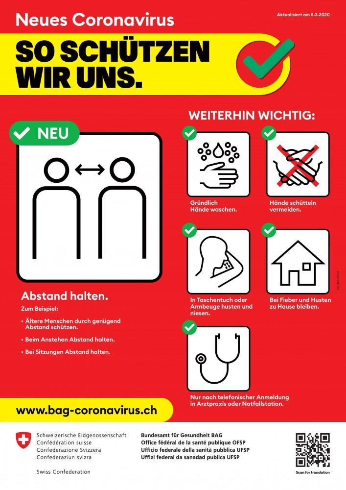 Informationen zum Umgang mit dem Corona-Virus